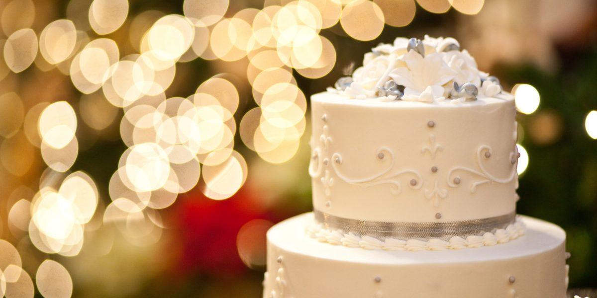 el postre en la fiesta de bodas
